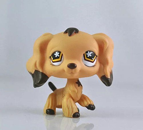 DEEJOE Pet Shop LPS Action Figure Tan Cocker Spaniel Dog Brown Dipped Ears Girl Toys 2 Thailand