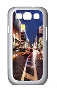 Lights Motion Road Custom Samsung Galaxy I9300/Samsung Galaxy S3 Case Cover Polycarbonate White