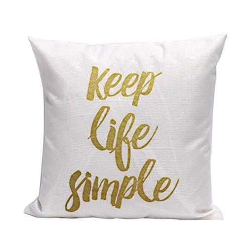Gotd Christmas Decorative Cushion English Words Letters Cotton Linen Pillow Throw Case Cover Pillowcase Cushion Cover for Sofa Throw Pillow Case Christmas Gifts 18