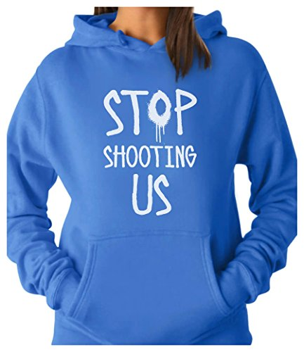 TeeStars - Stop Shooting Us - Civil Rights - Black Lives Matter Women Hoodie X-Large California Blue