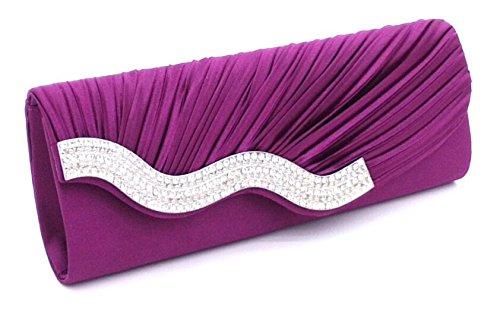 Violet Main Portefeuille Luxe Cloud de Different choisir Y Sac Ceremonies Plise Strass a party Pochette couleur Sac pour Mariage Soiree avec q8qpRzfw