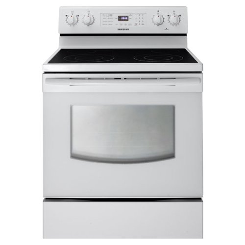 Samsung FER300SW 30 In. Freestanding Electric Range with Ceramic Cooktop and 5.9 Cu. Ft. Oven, White
