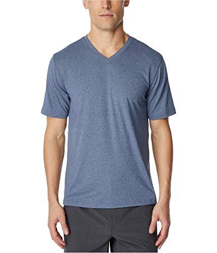 32 DEGREES Mens V-Neck Short Sleeve Stretch T-Shirt Blue XL
