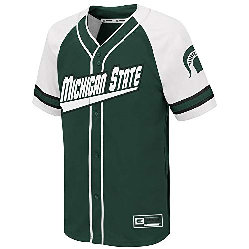 (Colosseum Youth Michigan State Spartans Wallis Baseball Jersey - M)