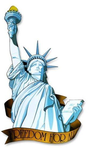 Miss Liberty Cutout Party Accessory (1 count) ()