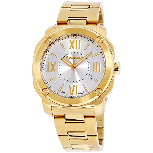 Wenger Edge Romans Gold Dial Stainless Steel Men's Watch 01.1141.122
