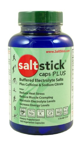 SaltStick Caps Plus, Electrolyte Replacement Capsules with Caffeine and Sodium Citrate (100ct)