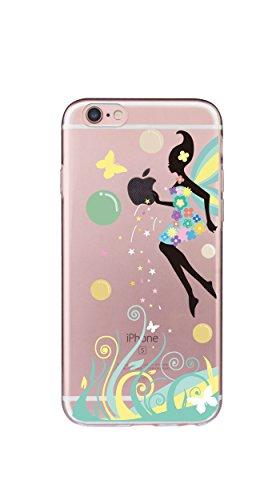 Case iPhone 6 Funda iPhone 6S Carcasa TPU Impresión Suave Ultra Slim / Resistente a los Arañazos Flexible Bumper Case Cover [Ultra-delgado] [Shock-Absorción] Protectora Contraportada Caja del Teléfono Hada