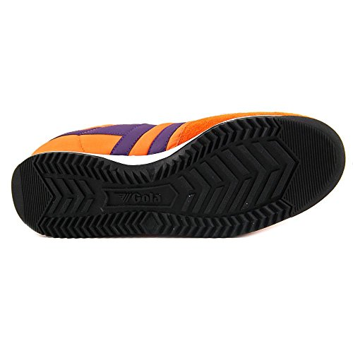 Gola Firefly Frauen Runde Toe Canvas Skate Schuh Gebrannt Orange / Lila / Weiß