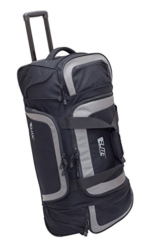 Elite Survival Systems ELS6010-B Travel Pronetm Check-Mate Rolling Gear Bag, Black/Gray by Elite Survival Systems