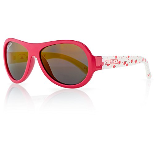 Junior Sport Swiss - SHADEZ Kids Flex Frame Designer Aviator Sunglasses -Strawberry, Red, 3-7 Years - 100% UV Protection for Baby, Children and Teens