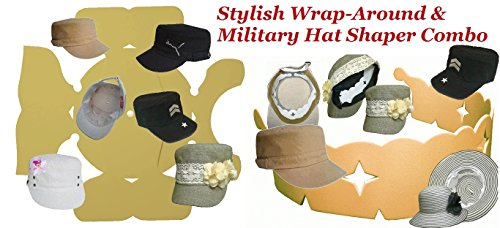 1Pk. Stylish Wrap-Around & Military Hat Shaper Combo| Hat Storage aide| Long Lasting Hat Liner| Cadet or Army Hat Panel Support| Hat Padding| Hat Blocking Aide, BUY 2 or more and get free S&H 100% MBG