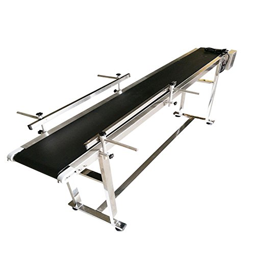 110V 70.8'' X 7.8'' X 29.5'' Electric Packaging Conveyor Black PVC Belt Brand New(#230014) by Packaging Supply