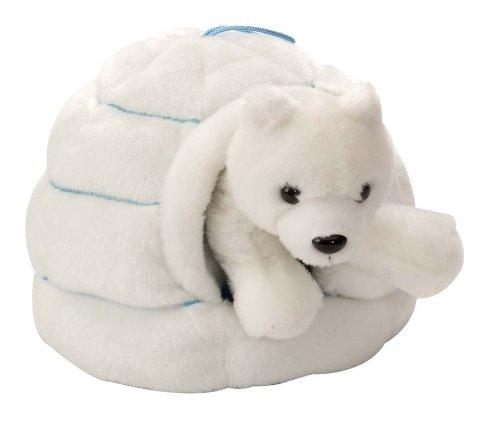 Wild Republic Polar Bear Plush, Stuffed Animal Toy, Gifts for Kids, Polar Igloo, 6 Inches
