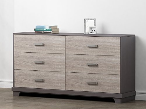 Homestar Albany  Dresser with 6 drawers in Java/Sonoma Finish ()
