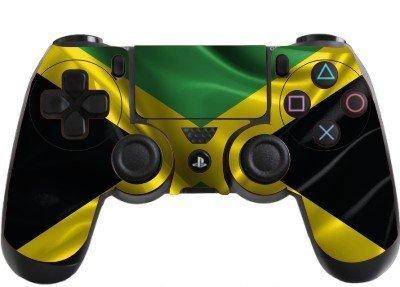 the grafix studio Jamaica Flag Playstation 4 (Ps4) Controller Sticker / Skin / Wrap / Ps5
