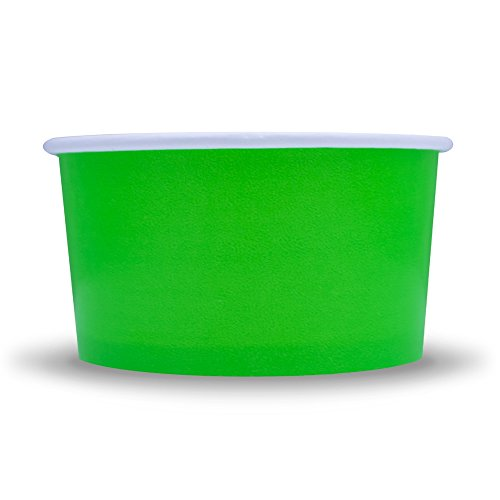 Frozen Dessert Supplies 6 oz Green Paper Ice Cream Cups - Comes In Many Colors & Sizes! Fast Shipping! 50 Count