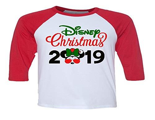 Disney Christmas Shirts.Handmade Disney Christmas Minnie With Glasses 2019 Shirt Mickey S Christmas Party Matching Family Christmas Shirts