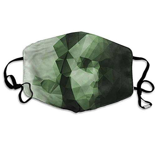 Geometric Dust Mouth Mask Low Poly Woman Portrait for Men and Women W4