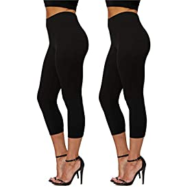 Conceited Premium Ultra Soft Leggings In 25 Colors High Waisted Womens Reg And Plus Size Full Capri Length