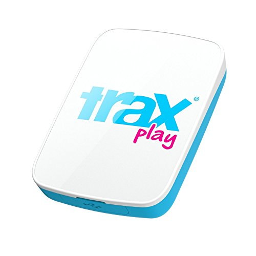 Trax Play New Upgraded Live Outdoor GPS Tracker for Children & Pets, Blue