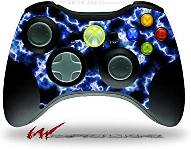 XBOX 360 Wireless Controller Decal Style Skin CONTROLLER NOT INCLUDED Electrify Blue