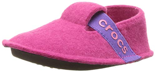 Crocs Kids' Classic Slipper, Candy Pink, 4 M US Toddler