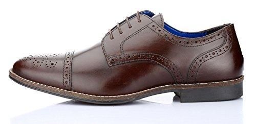 Red Tape , Chaussures de ville à lacets pour homme - marron - marron, 44