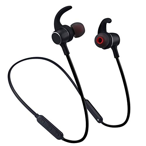 Molato Bluetooth Headphones,Wireless Neckband Bluetooth Headphones Waterproof IPX6 Magnetic Design Stereo Earbuds Bluetooth V4.2 in Ear Earbuds Sport Running Headphones wih 8 Hours Playtime (Black)