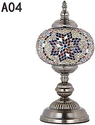 Lámpara de Mesa de Estilo Turco Cristal de Mosaico Hecho a Mano ...