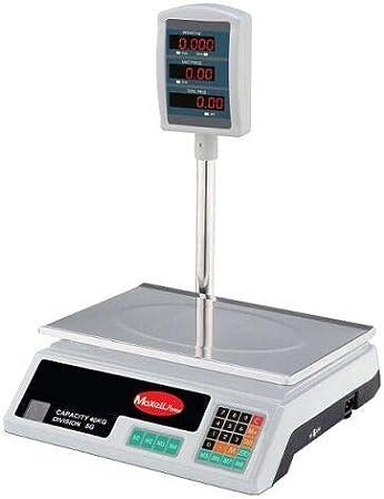 Maxell Power CE BASCULA DE Comercio Digital Electronica 40KG Comercial Doble Pantalla BALANZA BCD40P