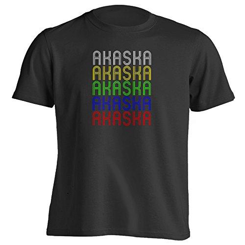 Vintage Style Retro Hometown - Akaska, SD 57420 - Black - XX-Large - Souvenir - Unisex - T-Shirt