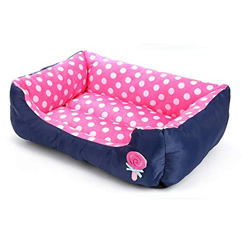 (ATUSY PET Dog House Beds Mats Sofa Soft Candy Colors Washable Dog Beds for Pets Small Puppy Chihuahua Dog Houses for Small Medium Dogs Mat)