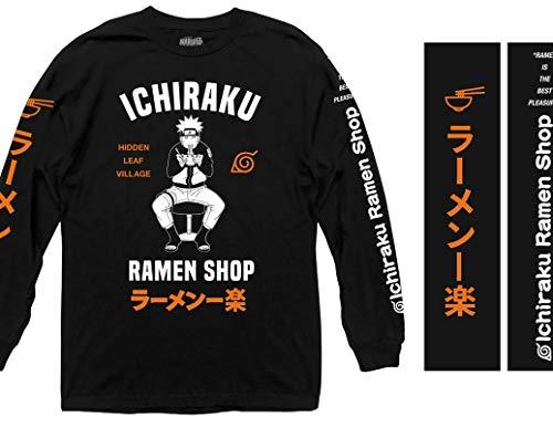 Ripple Junction Naruto - Shippuden Ichiraku Ramen Shop Adult Long Sleeve Shirt Small Black