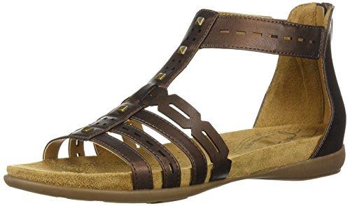 Natural Bronze Flat - Natural Soul Women's Antigua Flat Sandal, Bronze, 7.5 M US