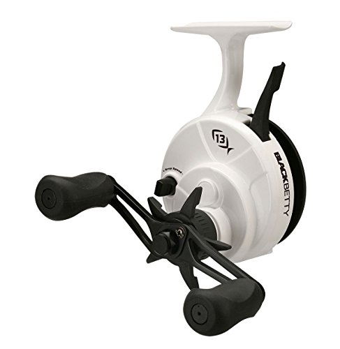 13 Fishing Black Betty FreeFall GHOST 2.5:1 Inline Trigger System Ice Fishing Reel (Right Hand Retrieve)