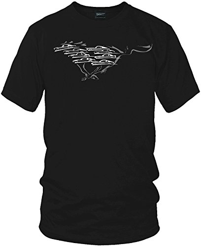 - Mustang Shirt,Mustang Silhouettes all years - Wicked Metal, Black, X-Large