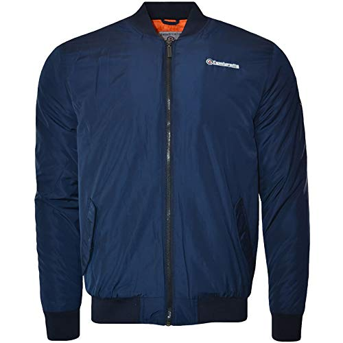Lambretta Mens MA1 Badged Bomber Jacket - Navy - S