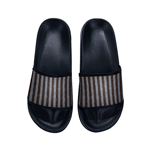 Drying Family Stripe Breathable Quick Slippers Non Pattern Brown Summer for Grey Slipper Child Slip x7wRH0p5nq