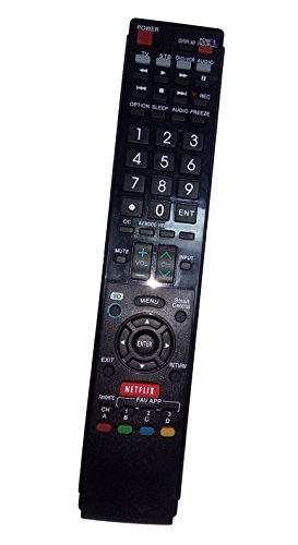 Replaced Remote Control Compatible for Sharp LC60LE847U LC60LE640UD LC52LE830U LC-46LE820 LC-70LE735U LC-46LE830U AQUOS LED LCD HD TV with NETFLIX 3D Button