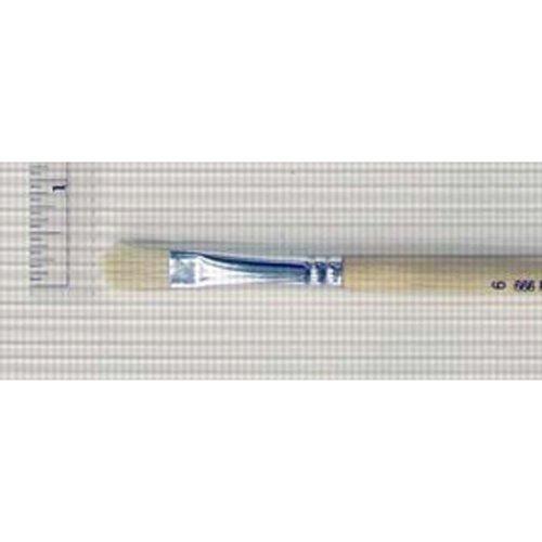 Royal & Langnickel 666 Series White Bristle Filbert Brush, Long Handle, Size 6 (R666-6)