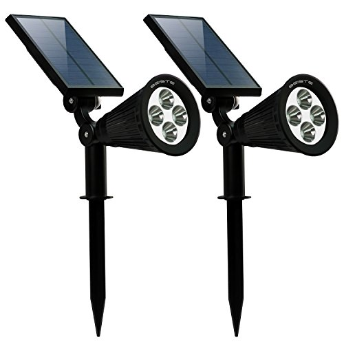 BEISTE Solar Lights Upgraded 2-in-1 Waterproof Outdoor Landscape Lighting Spotlight Wall Light Auto On/Off for Yard Garden Driveway (2pack) by BEISTE