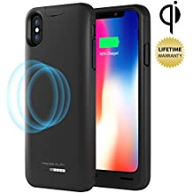 Press Play iPhone X Battery Case (APPLE CERTIFIED) with Qi Wireless Charging NERO iPhone 10 Portable Charger Slim Charging Case 4200mAh Extended Battery Pack Power Cases Juice Bank Cover (Black)