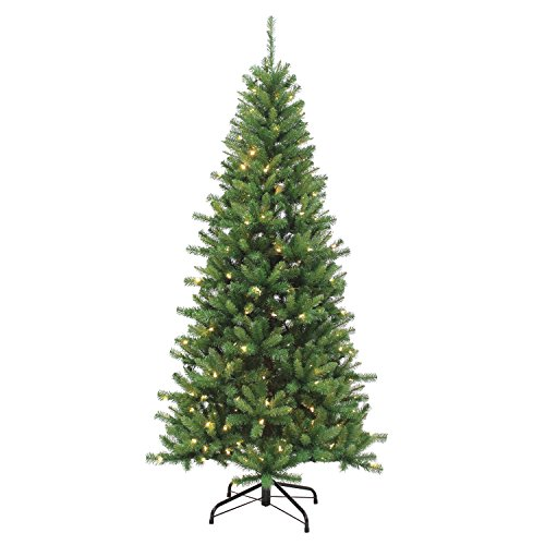(Sterling Tree Company 7' LED Ozark Pine Artificial Christmas Tree, 45