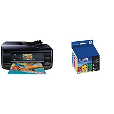Epson Expression Home XP-850 Wireless Color Photo Printer with Scanner, Copier & Fax C11CC41201 & Epson T277920 Epson Claria Photo HD 277 Standard-capacity Color Multi-pack - Cyan, Magenta, Yellow, Light Cyan, Light Magenta (T277920) Ink