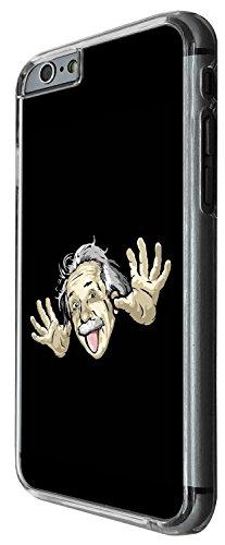 1453 - Cool Fun Trendy funny genius albert einstein crazy Design iphone 5C Coque Fashion Trend Case Coque Protection Cover plastique et métal - Clear