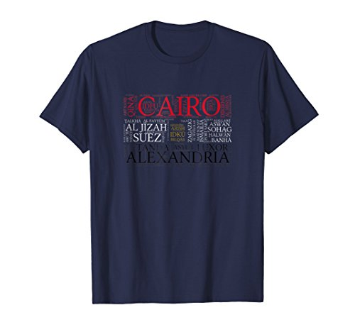 Luxor Dinner - Egypt Flag with City Names Word Art T-Shirt