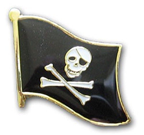 (ALBATROS Jolly Roger Pirate Eye Patch Flag Bike Motorcycle Hat Cap Lapel Pin for Home and Parades, Official Party, All Weather Indoors Outdoors)