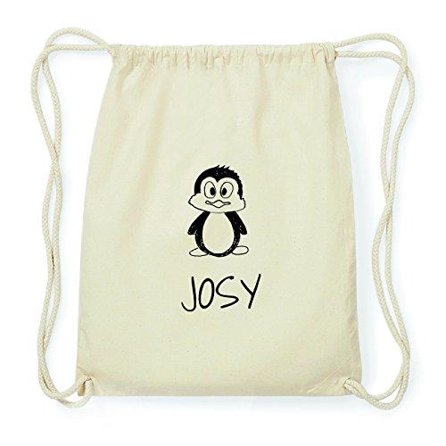 JOllipets JOSY Hipster Turnbeutel Tasche Rucksack aus Baumwolle Design: Pinguin