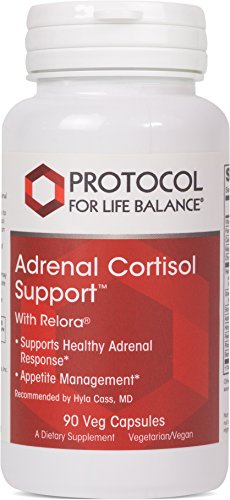 Protocol For Life Balance - Adrenal Cortisol Support with Relora® - Supports Healthy Adrenal Response and Appetite Management - 90 Veg Capsules